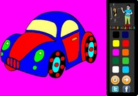 Turtle Car Coloring